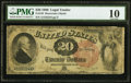 Large Size:Legal Tender Notes, Fr. 135 $20 1880 Legal Tender PMG Very Good 10.. ...