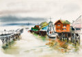 "Animation Art:Production Drawing, Retta Scott ""Waterfront"" Painting (c. 1950s-60s). ..."