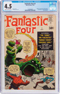 Silver Age (1956-1969):Superhero, Fantastic Four #1 (Marvel, 1961) CGC VG+ 4.5 Cream to off-whitepages....