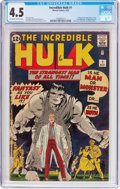 Silver Age (1956-1969):Superhero, The Incredible Hulk #1 (Marvel, 1962) CGC VG+ 4.5 Off-white towhite pages....