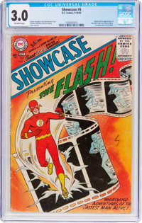 Showcase #4 The Flash (DC, 1956) CGC GD/VG 3.0 Off-white pages