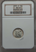 Barber Dimes: , 1902-O 10C MS62 NGC. NGC Census: (15/44). PCGS Population: (12/47).CDN: $450 Whsle. Bid for problem-free NGC/PCGS MS62. Mi...
