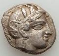 Ancients:Greek, Ancients: ATTICA. Athens. Ca. 454-404 BC. AR tetradrachm (17.06 gm)About XF, countermark....