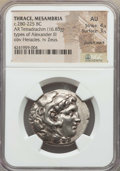 Ancients:Greek, Ancients: MACEDONIAN KINGDOM. Alexander III the Great (336-323 BC).AR tetradrachm (16.83 gm). NGC AU 4/5 - 3/5, punch mark....