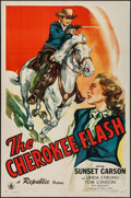 """Movie Posters:Western, The Cherokee Flash (Republic, 1945). One Sheet (27"""" X 41""""). Western.. ..."""