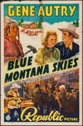 "Movie Posters:Western, Blue Montana Skies (Republic, 1939) Folded, Fine-. One Sheet (27"" X41""). Western...."