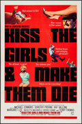"Movie Posters:Action, Kiss the Girls and Make Them Die (Columbia, 1966). One Sheet (27"" X41""), Lobby Card Set of 8 (11"" X 14""), & Pressbooks (2) ...(Total: 11 Items)"