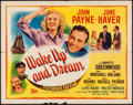 "Movie Posters:Adventure, Wake Up and Dream (20th Century Fox, 1946). Half Sheet (22"" X 28"").Adventure.. ..."