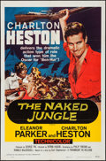 """Movie Posters:Adventure, The Naked Jungle (Paramount, R-1960). One Sheet (27"""" X 41"""") &Lobby Card Set of 8 (11"""" X 14""""). Adventure.. ... (Total: 9 Items)"""