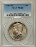 Kennedy Half Dollars, 1964-D 50C MS66+ PCGS. PCGS Population: (818/63). NGC Census:(476/15). Mintage 156,205,440....