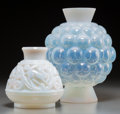 Art Glass:Other , Two Pierre d'Avesn Opalescent Glass Vases. 11 inches high x 9inches diameter (27.9 x 22.9 cm) (larger). ... (Total: 2 Items)
