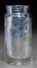 Glass, A Muller Freres Glass Fish Vase. 8 inches high x 4 inches diameter (20.3 x 10.2 cm). ...