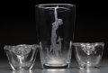 Art Glass:Daum, A Pair of Daum Clear Glass Handled Bowls and An Orrefors GlassVase. 9-3/4 inches high x 6-1/8 inches diameter (24.8 x 15.6 ...(Total: 3 Items)