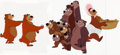 Animation Art:Production Cel, Humphrey the Bear Trimmed Production Cel Group of 6 (Walt Disney,c. 1950s). ... (Total: 6 Items)