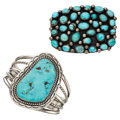 Estate Jewelry:Lots, Turquoise, Silver Jewelry. ... (Total: 2 Items)