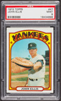 Baseball Cards:Singles (1970-Now), 1972 Topps John Ellis #47 PSA Mint 9 - Five Higher. ...