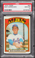 Baseball Cards:Singles (1970-Now), 1972 Topps Bud Harrelson #53 PSA Gem MT 10. ...