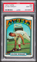 Baseball Cards:Singles (1970-Now), 1972 Topps Clyde Wright #55 PSA Gem MT 10 - Pop Three. ...