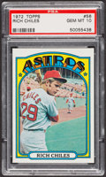Baseball Cards:Singles (1970-Now), 1972 Topps Rich Chiles #56 PSA Gem MT 10. ...