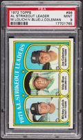 Baseball Cards:Singles (1970-Now), 1972 Topps AM Strikeout Leaders #96 PSA Mint 9. ...