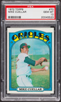 Baseball Cards:Singles (1970-Now), 1972 Topps Mike Cuellar #70 PSA Gem MT 10. ...