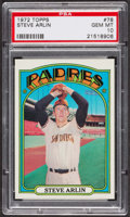 Baseball Cards:Singles (1970-Now), 1972 Topps Steve Arlin #78 PSA Gem MT 10. ...