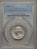 Washington Quarters, 1932-D 25C -- Cleaning -- PCGS Genuine. AU Details. NGC Census:(131/1955). PCGS Population: (273/3645). CDN: $260 Whsle. B...