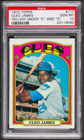 Baseball Cards:Singles (1970-Now), 1972 Topps Cleo James #117 PSA Gem MT 10 - Pop Three. ...