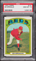 Baseball Cards:Singles (1970-Now), 1972 Topps Ed Sprague #121 PSA Gem MT 10. ...