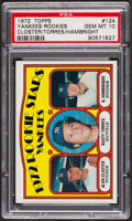 Baseball Cards:Singles (1970-Now), 1972 Topps Yankees Rookies #124 PSA Gem MT 10. ...