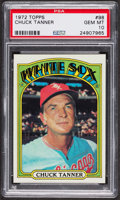 Baseball Cards:Singles (1970-Now), 1972 Topps Chuck Tanner #98 PSA Gem MT 10 - Pop Five. ...