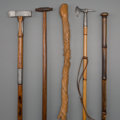 Other, Five Geologist's Walking Sticks, early 20th century. 39-1/2 inches (100.3 cm) (longest). PROPERTY FROM THE COLLECTION OF M... (Total: 5 Items)