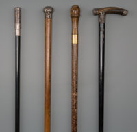 Four Physician's Walking Sticks, late 19th century 36 inches (91.4 cm) (longest)  PROPERTY FROM THE COLLECTI
