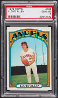 Baseball Cards:Singles (1970-Now), 1972 Topps Lloyd Allen #102 PSA Gem MT 10 - Pop Four. ...