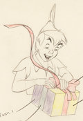 Animation Art:Color Model, Peter Pan Color Model Drawing Signed by Frank Thomas andOllie Johnston (Walt Disney, 1953). ...