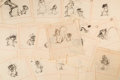 Animation Art:Production Drawing, Bambi Mother Squirrel and Baby Storyboard Group of 16 (WaltDisney, 1942). ... (Total: 16 Items)