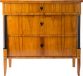 Furniture : Continental, A South German Biedermeier Chest, Franconia Region, Germany, circa 1820. 33-1/2 h x 35-1/2 w x 20-1/2 d inches (85.1 x 90.2 ... (Total: 2 Items)