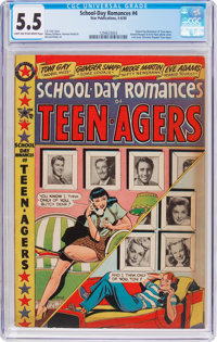 School Day Romances #4 (Star Publications, 1950) CGC FN- 5.5 Light tan to off-white pages