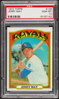 Baseball Cards:Singles (1970-Now), 1972 Topps Jerry May #109 PSA Gem MT 10. ...