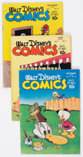 Golden Age (1938-1955):Cartoon Character, Walt Disney's Comics and Stories Group (Dell, 1946-48) Condition:Average VG.... (Total: 5 Comic Books)