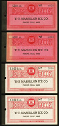 Obsoletes By State:Ohio, (Massillon, OH)- Massillon Ice Co. Chit Booklets 500 (2); 1000 (2)Lbs 193_. ... (Total: 4 items)