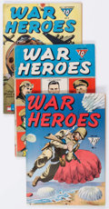 Golden Age (1938-1955):War, War Heroes Group of 7 (Dell, 1943-44) Condition: Average VG/FN....(Total: 7 Comic Books)