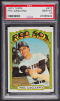Baseball Cards:Singles (1970-Now), 1972 Topps Phil Gagliano #472 PSA Gem MT 10 - Pop Three. ...