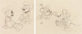 Animation Art:Production Drawing, Klondike Kid/Puppy Love Mickey Mouse and Minnie MouseAnimation Drawings Set (Walt Disney, 1932-33). ...
