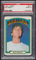 Baseball Cards:Singles (1970-Now), 1972 Topps Ken Brett #517 PSA Mint 9 - Only Two Higher. ...