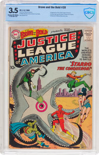 The Brave and the Bold #28 Justice League of America (DC, 1960) CBCS VG- 3.5 Cream to off-white pages