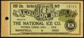 Obsoletes By State:Ohio, Mansfield, OH- National Ice Co. Chit Booklet 500 Lbs. 194_. ...