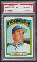 Baseball Cards:Singles (1970-Now), 1972 Topps Marcelino Lopez #652 PSA Gem MT 10. ...