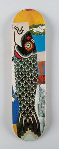 Fine Art - Work on Paper:Print, After Robert Rauschenberg X The Skateroom. Doubleluck, 2017. Screenprint in colors on skate deck. 31 x 8 inches (78.7 x ...