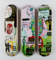 After Jean-Michel Basquiat X The Skateroom In Italian, triptych (Open Edition), 2016 Screenprints in colors on skate d...